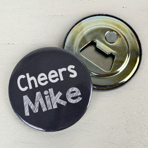 Personalised Cheers Magnetic Bottle Opener - corkscrews & bottle openers