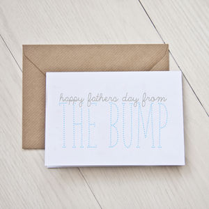 'Happy Father's Day From The Bump' Card - shop by category