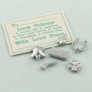 Personalised Good Luck Pewter Charm Set - charm jewellery