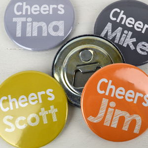 10 Personalised Wedding Favour Bottle Openers