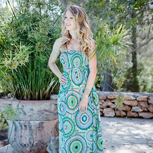 Bandeau Cotton Summer Maxi Dress