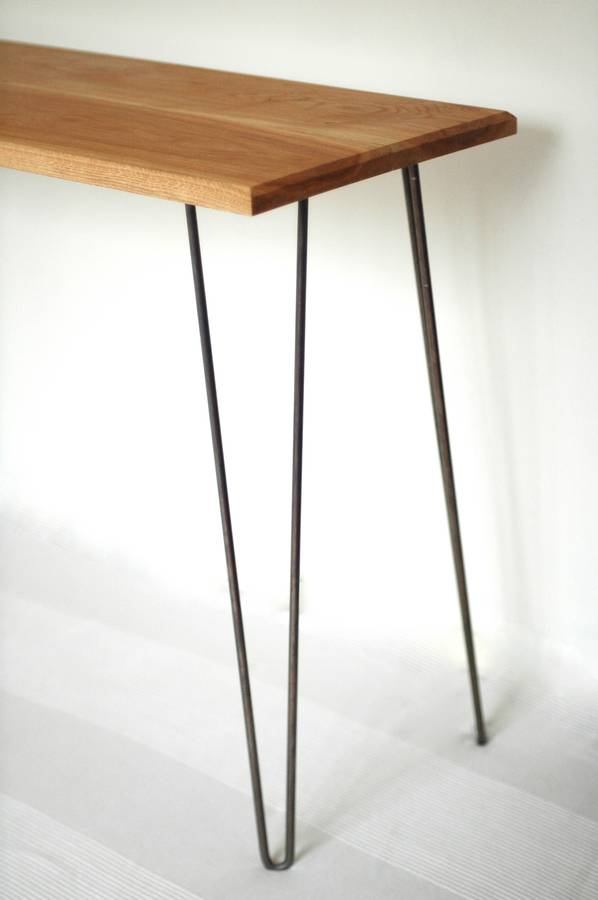 Etonnant Margot Console Table Desk With Hairpin Legs