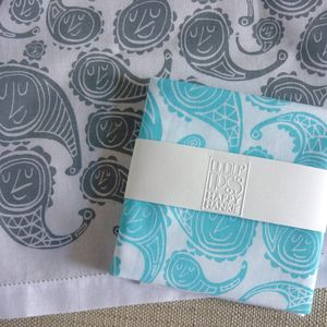 Happy Paisley Hankie - gifts for grandparents