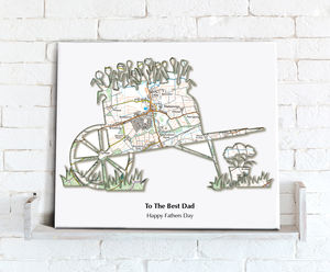 Personalised Gardening Map Canvas Print