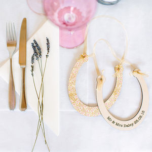 Personalised Good Luck Wedding Horseshoe - keepsakes