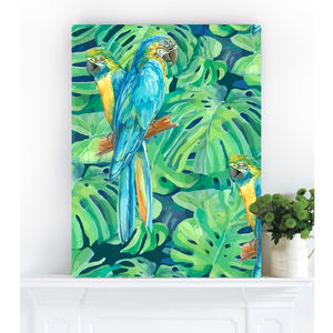 Botanical Jungle, Canvas Art - animals & wildlife