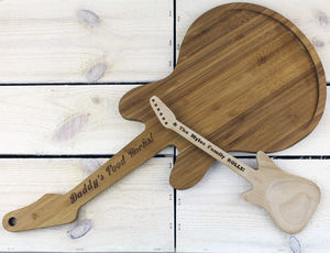 Personalised Engraved Guitar Chopping Board - kitchen accessories