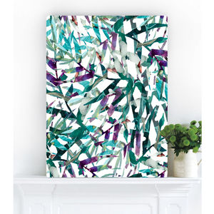 Botanical Jungle Fever, Canvas Art - oversized art