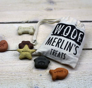 Personalised Dog Treat Bag - summer sale