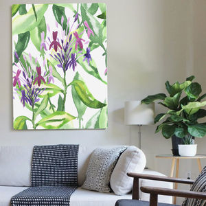Botanical Garden Stroll, Canvas Art - nature & landscape