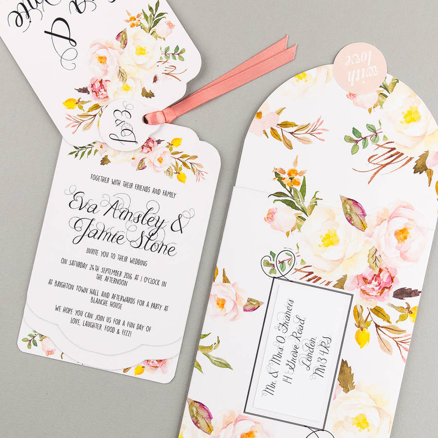 Floral Affair Luxe Invitation Suite