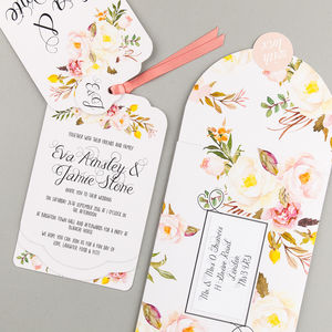 Floral Affair Luxe Invitation Suite - wedding stationery