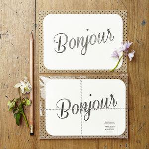 'Bonjour' Notecards - postcards