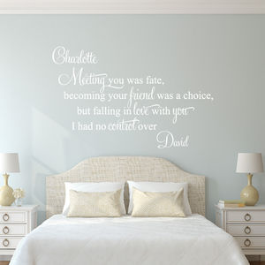 Meeting You Was Fate Wall Sticker