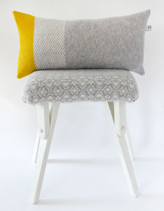 Knitted Colour Block Cushion - cushions