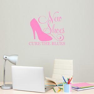New Shoes Cure The Blues Wall Sticker - sale by category