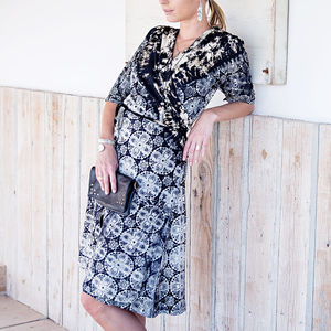 Batik Wrap Dress - summer clothing