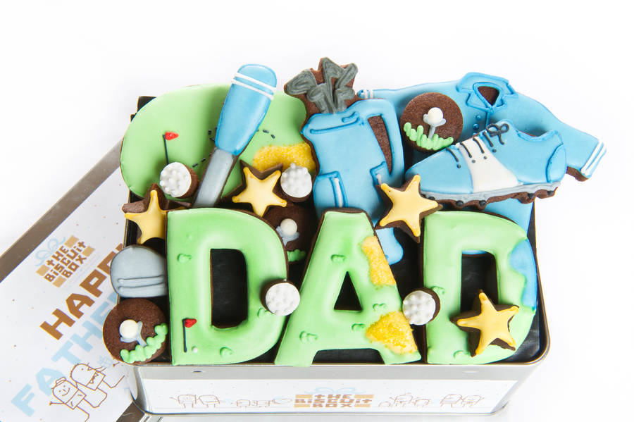 Golfing Dad Biscuit Tin