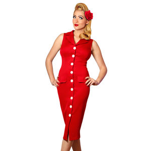 Vintage Style Red Pencil Dress - dresses