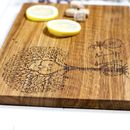 Tree Of Love Personalised Oak Chopping Board