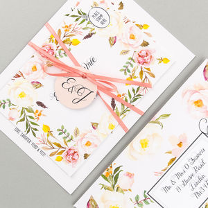 Floral Affair Invitation Suite - wedding stationery