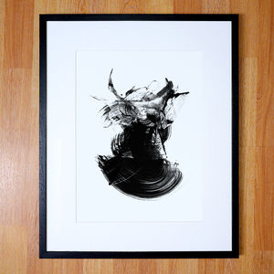 Abstract Art, Black And White Contemporary Art Print