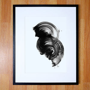 Black And White Abstract Giclee Print