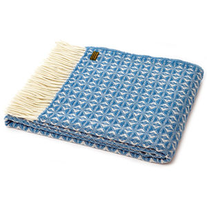 Textured Weave Throw In Turquoise