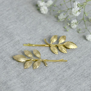 Gold Leaf Hair Grips - head pieces