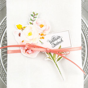 Corsage Wine Glass Place Cards