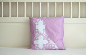 Labrador Dog Cushion Cover In Pink