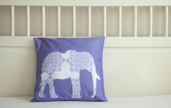 Damask Elephant Cushion Cover