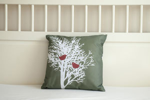 Tree Silhouette Cushion Cover - living room