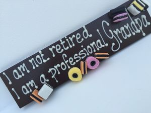 Personalised I Am Not Retired - chocolates & confectionery