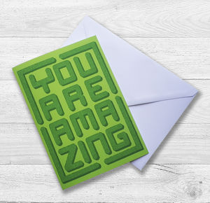 'You Are Amazing' Topiary Gift Card