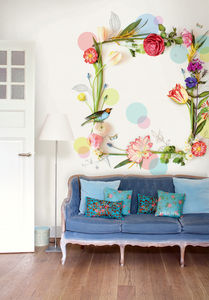 3D Floral Wallpower - home decorating