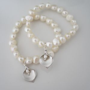 Girls Lily Pearl Bracelet - children's jewellery