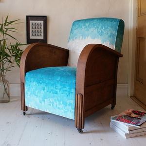 Vintage 1920s Painterly Club Armchair - furniture
