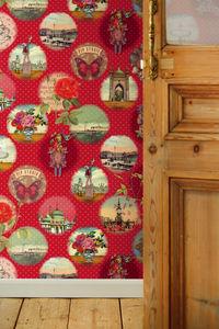 Red Remember Brighton Wallpower - bedroom
