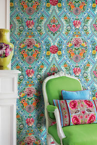Blue Melody Floral Wallpower