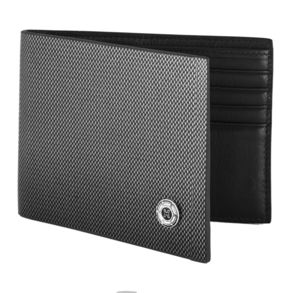Bi Fold Leather Wallet With Diamond Design - wallets & money clips