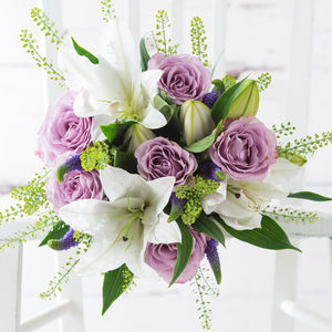 Macaroon Fresh Flowers Bouquet - flowers, plants & vases
