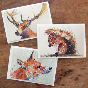 Greeting Cards, Woodland Animals Card Selection