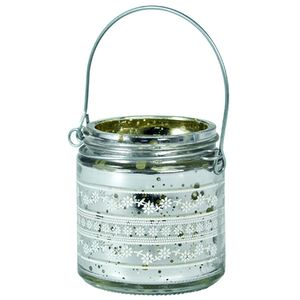 Hanging Vintage Silver Tea Light Holder - outdoor decorations