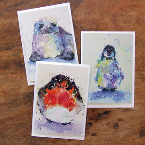 Winter Animal Card Selection