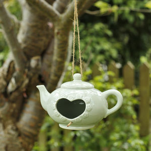 Teapot Birdhouse - 80th birthday gifts