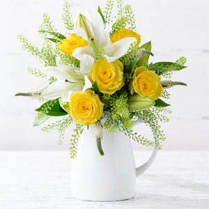 Lemon Zest Fresh Flowers Bouquet - home accessories