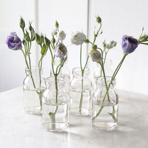 Mini Milk Bottle Vase - table decoration