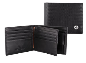 Luxury Black Leather Wallet With Internal Coin Purse