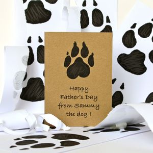 Father's Day Card From The Dog - cards & wrap